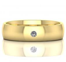 Golden wedding rings with infinity sign