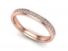 Red and white gold wedding rings