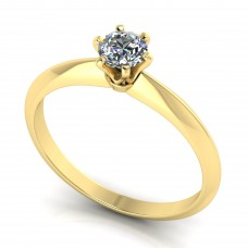 White gold ring with a diamond