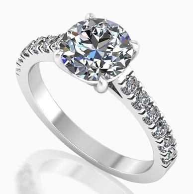Sužadėtuvių žiedai su briliantais